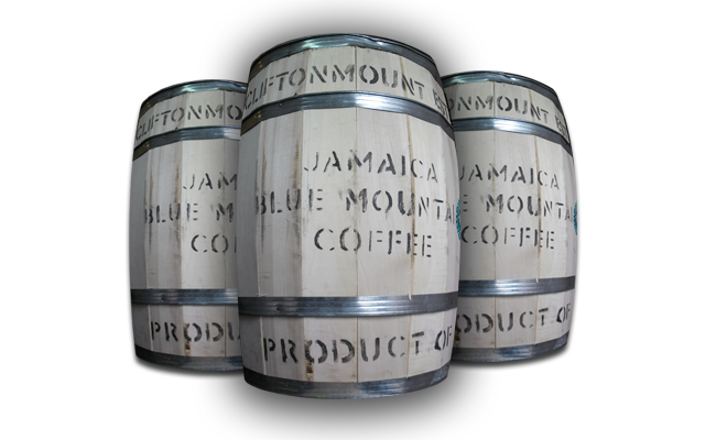 Jamaica Blue Mountain Coffee Barrel