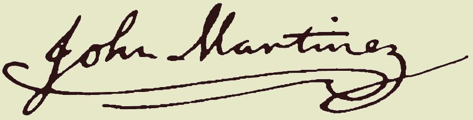 John A. Martinez Signature