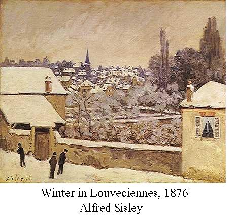 Sisley - Winter in Louveciennes